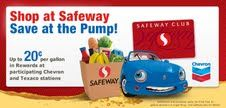Safeway Gas Reward Points at Participating Chevron and Texaco Locations (plus giveaway)