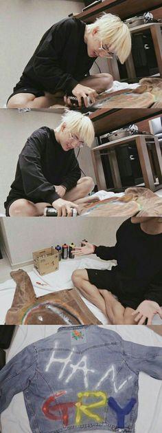 that's my little artist boy right there ; Foto Bts, Bts Photo, Taekook, Seokjin, Namjoon, Bts Boys, Bts Bangtan Boy, Jimin Jungkook, Bts Memes