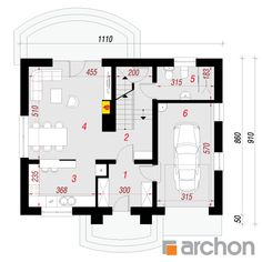 Dom w lucernie (GP) Floor Plans, House, Home, Homes, Floor Plan Drawing, Houses, House Floor Plans