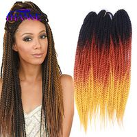 "20"" High Quality Havana Mambo Twist Crochet Braid Hair 100g/pack two/three tone crochet braids Crochet Braiding Hair Extension"