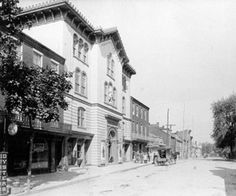 A view of the Fulton Opera House from North Prince St. circa 1900