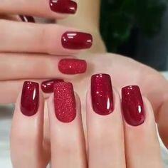 Nails gel, we adopt or not? - My Nails Elegant Nails, Classy Nails, Cute Nails, Pretty Nails, Classy Nail Designs, Red Nail Designs, Perfect Nails, Gorgeous Nails, Holiday Nails
