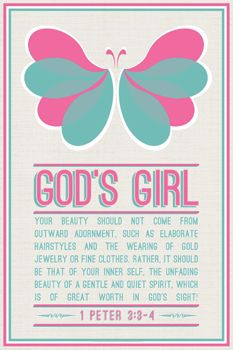 I want this for Blakely! Gods Girl (1 Peter 3:3-4) - Slingshot Publishing