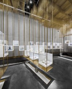 The Designers' Brands Collection Store Under the Golden Cloud, Beijing, 2016 - Atelier Tree Jewelry Store Displays, Jewelry Store Design, Jewelry Stores, Retail Interior Design, Retail Store Design, Boutique Accessoires, Tree Shop, Store Windows, Brand Collection