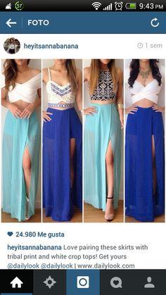 Hermosas faldas largas.