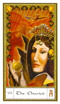 The Chariot in the Gendron deck is your Tarot card of the day