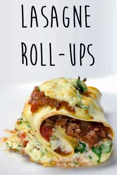 Lasagne Roll-Ups- gluten free: use gluten free noodles; if noodles not prepared, soak in water until able to bend without breaking