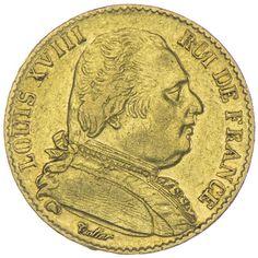 20 Francs 1815 A Frankreich Ludwig XVIII. 1814 - 1824