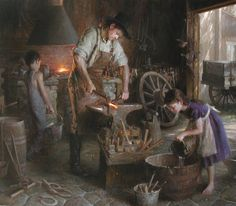 """""""The Family Trade""""  © 2001 Morgan Weistling (1964-- American)"""