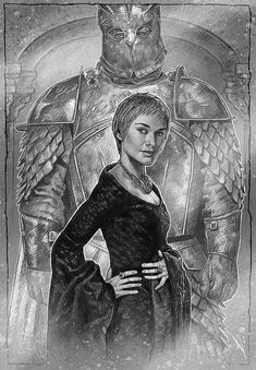 This is one of my Game of Thrones character illustrations - Cersei and The Mountain.  Prints are on A3 high quality 260gsm semi-gloss photo paper. They are sent rolled in a sturdy mailing tube for safe delivery.