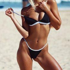 2017 New Arrivals Sexy Women Solid Color Swimsuits Summer Beach Pool Party Spaghetti Strap Bikini Slim Swimming Bra+Briefs Sets