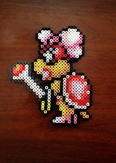 Super Mario Brothers 3 8 Bit Perler Koopaling - Wendy O. Koopa via eb.perler. Click on the image to see more!