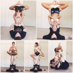 Yoga poses for couples boyfriends namaste 46 Ideas Couples Yoga Poses, Acro Yoga Poses, Partner Yoga Poses, Yoga Moves, Bikram Yoga, Couple Yoga, Esprit Yoga, Photo Yoga, Yoga Nature