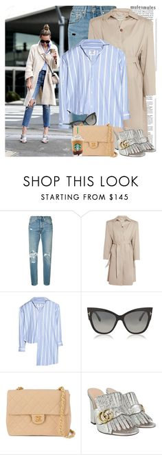 """""""Slip 'Em On: Mules"""" by martinabb ❤ liked on Polyvore featuring Gucci, Levi's, Balenciaga, Vetements, Tom Ford and Chanel"""