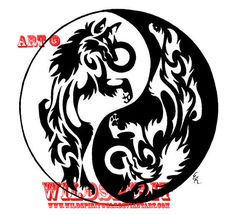 Resultado de imagen para tattoo yin y yang con lobos