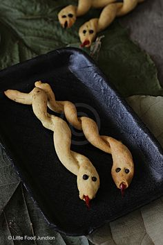Cumin Flavored Breadstick Snakes by littlefoodjunction #Halloween #Breadsticks