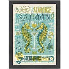 Seahorse Saloon Framed Print