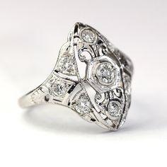ART DECO RING – katie diamond jewelry, $980.