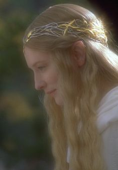 Cate Blanchett as Galadriel, the Lady of Light, the Queen of Lothlorien, in Lord of the Rings and The Hobbit.