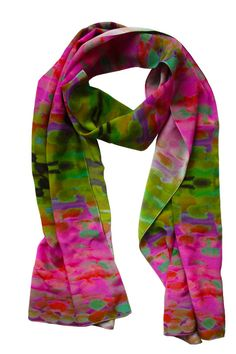 beautiful made to order, hand painted silk scarves provide just the right pop of color
