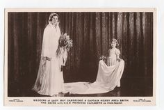 Wedding Lady May Cambridge and Captain Henry Abel , photo by Vandyk for Beagles.   eBay!