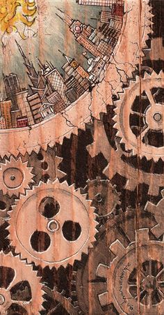 Pencil Drawing Patterns quantacity four by andyvanoverberghe - Steampunk Artwork, Steampunk Clock, Steampunk Design, Steampunk Wallpaper, Mechanical Art, Illustrations And Posters, Dieselpunk, Surreal Art, Art Inspo