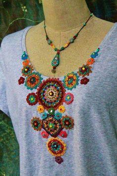 Captivating Crochet a Bodycon Dress Top Ideas. Dazzling Crochet a Bodycon Dress Top Ideas. Art Au Crochet, Crochet Motifs, Freeform Crochet, Crochet Crafts, Crochet Projects, Knit Crochet, Crochet Patterns, Jute Crafts, Crochet Ornaments