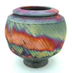 Raku Copper Matt Bowl by Chris Hawkins.