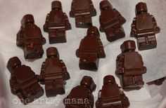 Chocolate Lego Figures via- One Artsy Mama