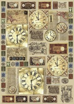 Handicraft supplies & handicraft material cheap online in the VBS craft shop … – Clock World Decoupage Vintage, Papel Vintage, Motif Vintage, Decoupage Paper, Vintage Ephemera, Vintage Cards, Vintage Prints, Vintage Images, Decoupage Tutorial
