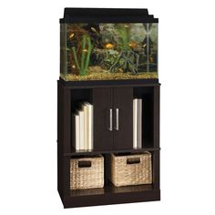 Top Fin Aquarium Cabinet in Black Size: 20 Gal Aquarium Stand, Aquarium Cabinet, Home Aquarium, Aquarium Design, Aquarium Fish Tank, Aquarium Ideas, Fish Tank Decor, Support Pour Aquarium, Unique Fish Tanks