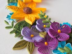 ArtLife Quilling Videos, Quilling Techniques, Quilling Cards, Paper Quilling, Quilled Creations, Quilling Flowers, Floral Arrangements, Beautiful Flowers, Paper Art