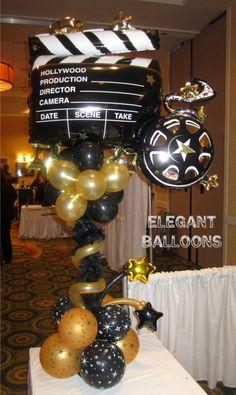 hollywood theme by www.elegant-balloons.com