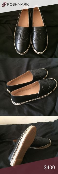 chanel espadrilles eu 39 in black I'm selling authentic chanel espadrilles. perfect for the holiday gift! they run little small. send me offers. no trade offers please. I ship very fast! CHANEL Shoes Espadrilles