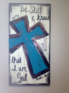 Be still & know that I am God Textured Cross Canvas