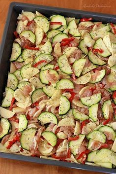 Zucchini, Meal Prep, Chicken Recipes, Food And Drink, Menu, Cooking Recipes, Tasty, Lunch, Vegetables