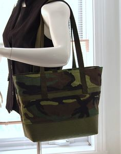 990f9eaef9c1 Tote Bag - Green Camouflage! by ToteCloset on Etsy Green Bag