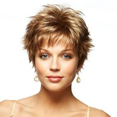 short spikey wigs | Made From: Monofibre - machine wefted.