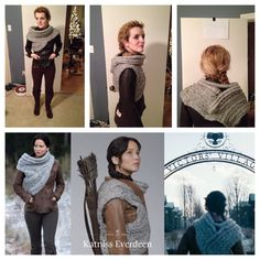 You may purchase the cowl from my Etsy shop here. As the Catching Fire promotional material came out a few months ago, a cowl that Katniss was wearing became quite popular in the knitting community...
