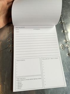Spark Meeting Notes Notebook