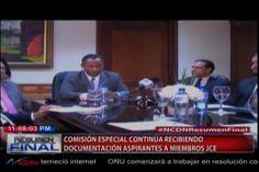 Félix Victorino comenta ¨ siguen recibiendo documentación de los futuros aspirantes a miembros de la JCE ¨