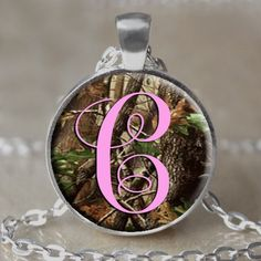 Camouflage Monogram Initial Necklace / by 4EverAlwaysDesigns, $12.00