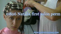 yout0806 Natalia first salon perm - YouTube