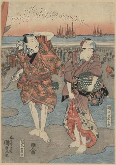 Toyokuni. From the Library of Congress' collection of Japanese prints. If you click through to the L.O.C., you can download a huge TIFF.