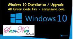 Windows 10 Installation Upgrade Error Code Fix