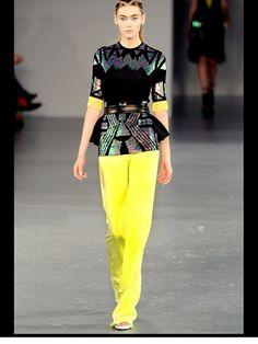 David Koma Spring 2012 Ready-to-Wear Fashion Show - Eve Delf High Fashion, Fashion Show, London Spring, David Koma, Ready To Wear, Sequin Skirt, Runway, Vogue, Spring Summer