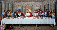 The lords supper The Last Supper Tattoo, Last Supper Art, The Last Supper Painting, The Last Dinner, Jesus Christ Lds, Pictures Of Jesus Christ, Jesus Art, Jesus Son Of God, Lords Supper