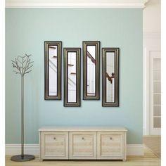Rayne Antique Silver Mirror Panel, Set of 4