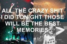 Party, raves and beautiful memories
