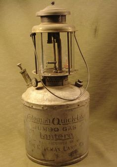 Rare Antique Extra Large Coleman Quick-Lite Jumbo Gas Lantern #Coleman, dates back to 1923!